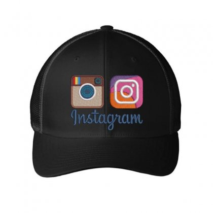 Instagram Embroidered Mesh Cap Designed By Madhatter