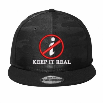 Keep It Real Camo Snapback Designed By Madhatter