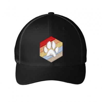 Paw Embroidered Mesh Cap Designed By Madhatter
