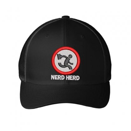 Nerd Herd Embroidered Mesh Cap Designed By Madhatter