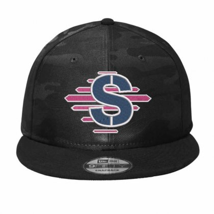 S Alphabet Camo Snapback Designed By Madhatter