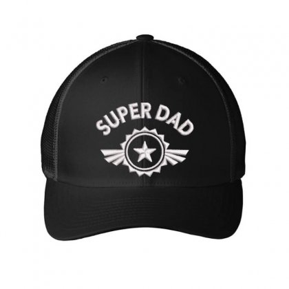 Super Dad Embroidered Mesh Cap Designed By Madhatter