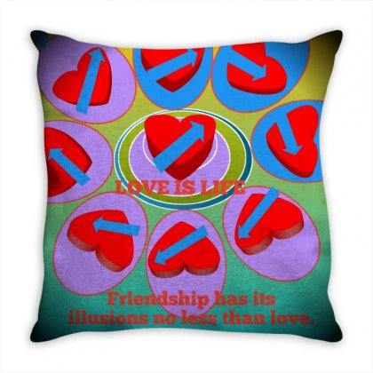 Love Is Life Throw Pillow Designed By Catly