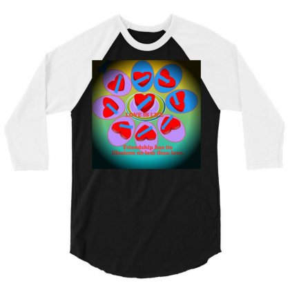 Love Is Life 3/4 Sleeve Shirt Designed By Catly