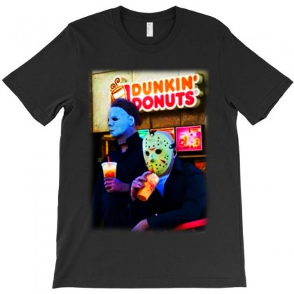 Michael And Jason  Donuts T-shirt Designed By Sephia