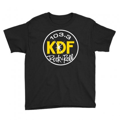 103.3 Kdf Rock N Roll Art Youth Tee Designed By Planetshirts