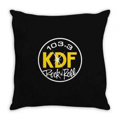 103.3 Kdf Rock N Roll Art Throw Pillow Designed By Planetshirts