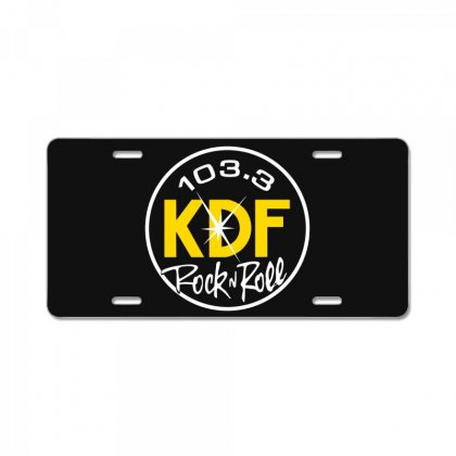 103.3 Kdf Rock N Roll Art License Plate Designed By Planetshirts