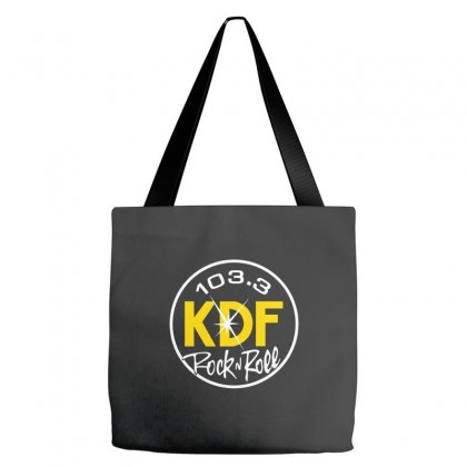 103.3 Kdf Rock N Roll Art Tote Bags Designed By Planetshirts