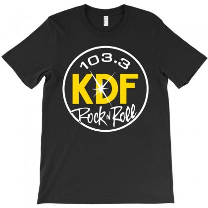 103.3 Kdf Rock N Roll Art T-shirt Designed By Planetshirts
