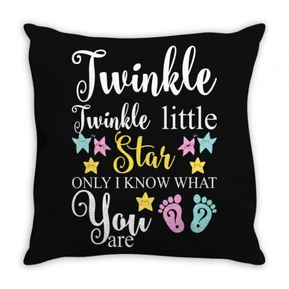 Twinkle Twinkle Little Star Only I Know What You Are For Dark Throw Pillow Designed By Gurkan