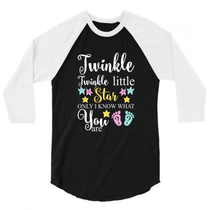 Twinkle Twinkle Little Star Only I Know What You Are For Dark 3/4 Sleeve Shirt Designed By Gurkan