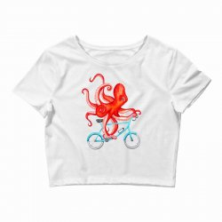 cycling octopus relaxed Crop Top | Artistshot
