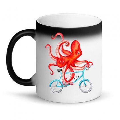 Cycling Octopus Relaxed Magic Mug Designed By Planetshirts