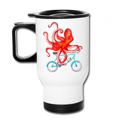 Cycling Octopus Relaxed Travel Mug Designed By Planetshirts