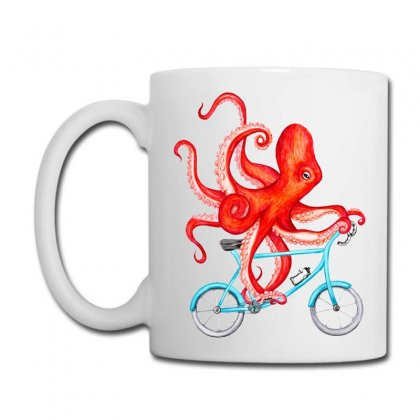 Cycling Octopus Relaxed Coffee Mug Designed By Planetshirts