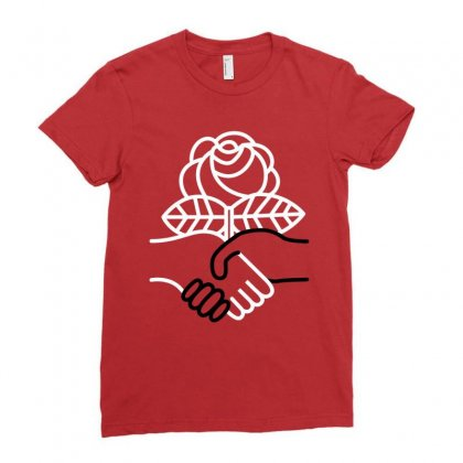 Democratic Socialists Of America Ladies Fitted T-shirt Designed By Planetshirts