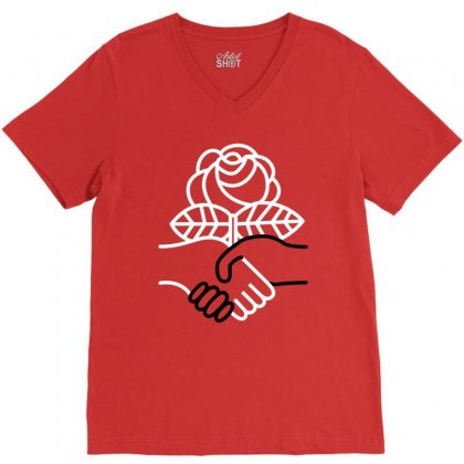 Democratic Socialists Of America V-neck Tee Designed By Planetshirts