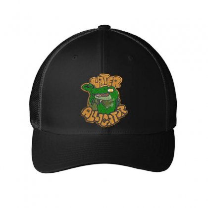Alligator Embroidered Mesh Cap Designed By Madhatter