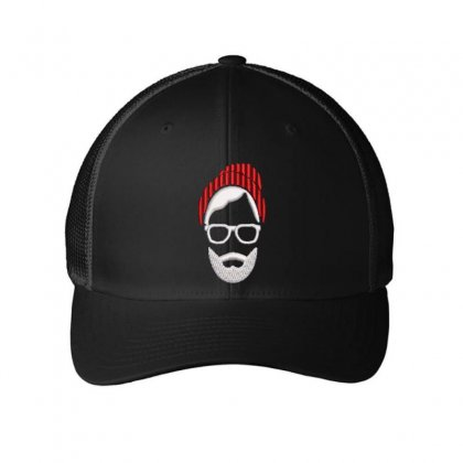 Beard Man Embroidered Mesh Cap Designed By Madhatter