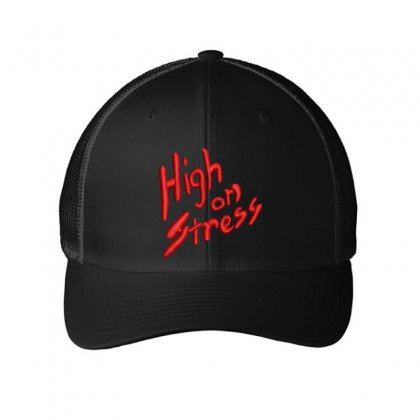 High On Stress Embroidered Mesh Cap Designed By Madhatter
