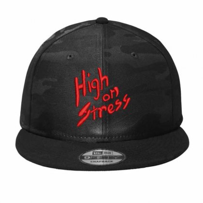 High On Stress Camo Snapback Designed By Madhatter