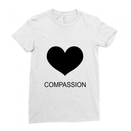 Compassion Ladies Fitted T-shirt Designed By Moneyfuture17