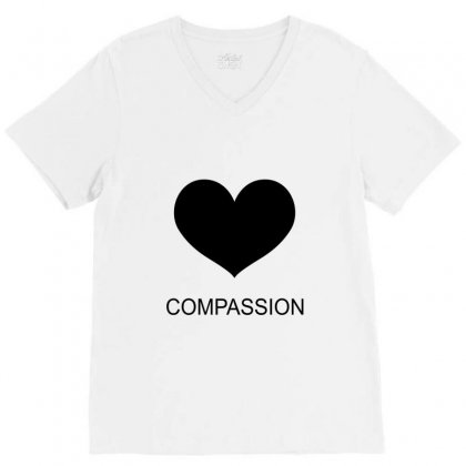 Compassion V-neck Tee Designed By Moneyfuture17