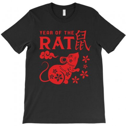 Year Of The Rat T-shirt Designed By Honeysuckle