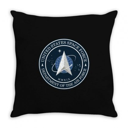 Space Force Logo Throw Pillow Designed By Delicous