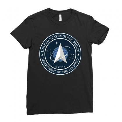 Space Force Logo Ladies Fitted T-shirt Designed By Delicous