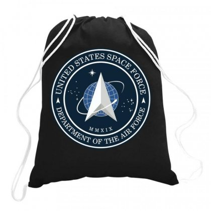 Space Force Logo Drawstring Bags Designed By Delicous