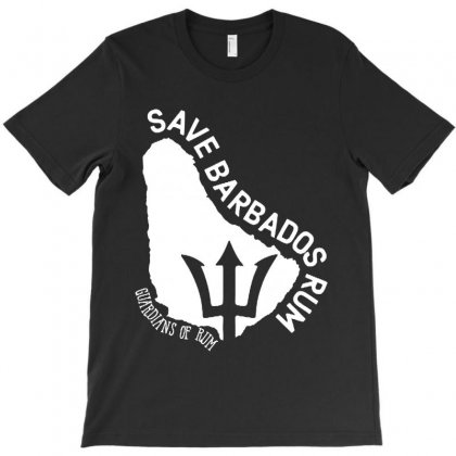 The Save Barbados Rum   White Style T-shirt Designed By Delicous