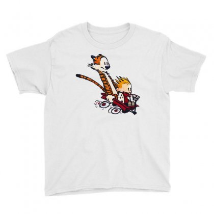 Calvin&hobbes Racing Youth Tee Designed By Shirt1na