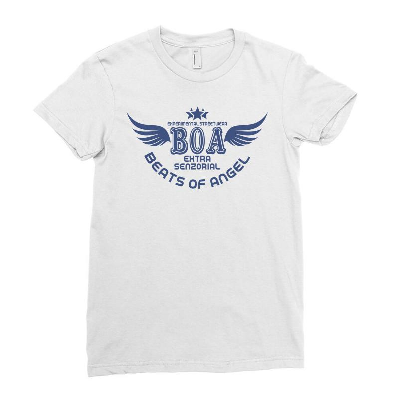 Experimental Streetwear Boa Extra Senzorial Beats Of Angel Ladies Fitted T-shirt   Artistshot