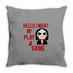 Hello, I want to play a game Throw Pillow   Artistshot