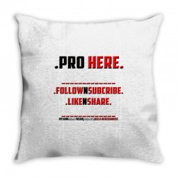 Proffessional follow, subscribe, like, share Throw Pillow | Artistshot