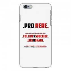 Proffessional follow, subscribe, like, share iPhone 6 Plus/6s Plus Case | Artistshot