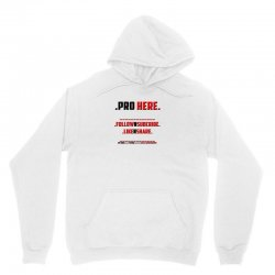 Proffessional follow, subscribe, like, share Unisex Hoodie   Artistshot