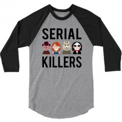 Serial killers 3/4 Sleeve Shirt | Artistshot