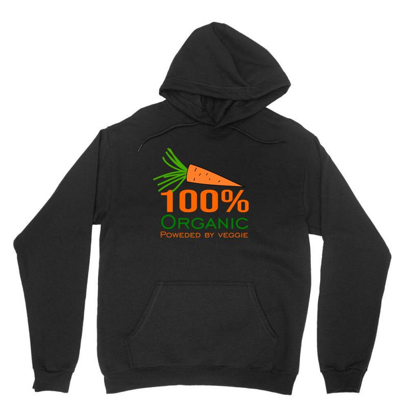 100  Organic Powered By Veggie Unisex Hoodie | Artistshot