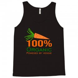 100  organic powered by veggie Tank Top | Artistshot
