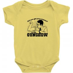 dwight schrute do you have your ticket to the gun show Baby Bodysuit | Artistshot