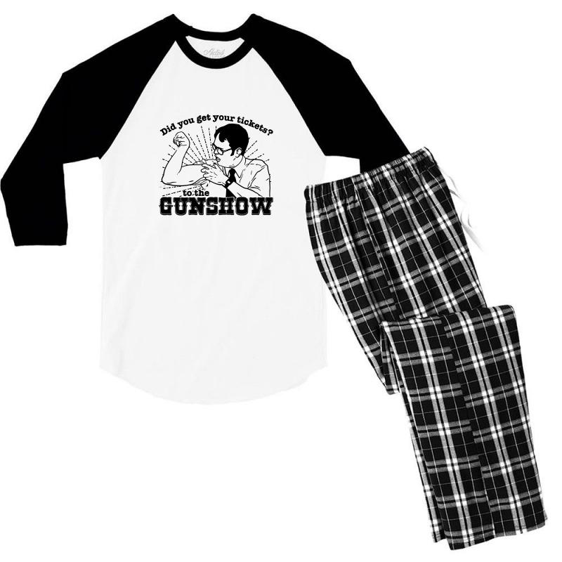 Dwight Schrute Do You Have Your Ticket To The Gun Show Men's 3/4 Sleeve Pajama Set | Artistshot