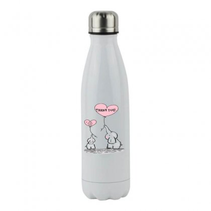 Love Stainless Steel Water Bottle Designed By Eko Setiawan