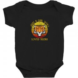 just a girl who loves tigers animal lover Baby Bodysuit   Artistshot