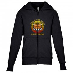 just a girl who loves tigers animal lover Youth Zipper Hoodie   Artistshot