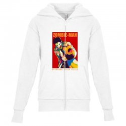 zombie man Youth Zipper Hoodie | Artistshot