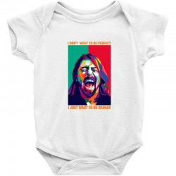 be badass as dave grohl Baby Bodysuit | Artistshot