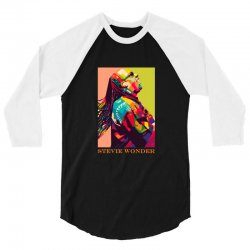 stevie wonder 3/4 Sleeve Shirt | Artistshot